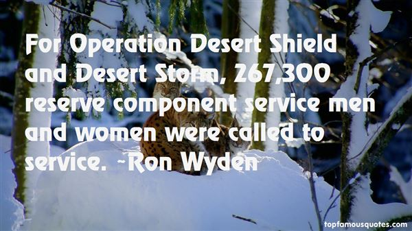 Quotes About Operation Desert Storm