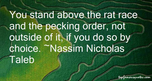 Quotes About Pecking Order