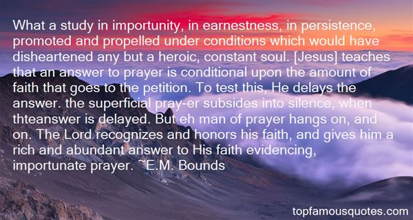 Quotes About Persistence In Prayer