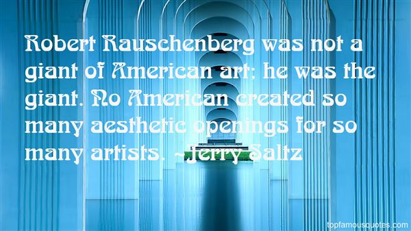 Quotes About Rauschenberg