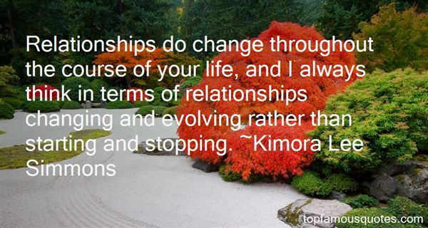 Quotes About Relationships Changing