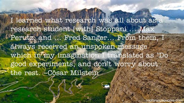 Quotes About Sanger