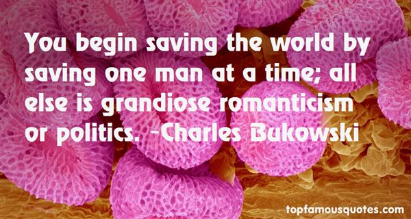 Quotes About Saving The World