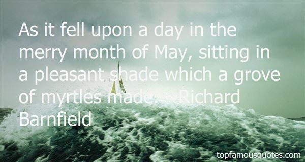 Quotes About The Merry Month Of May