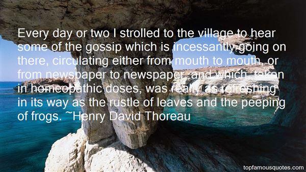 Quotes About Village Gossip