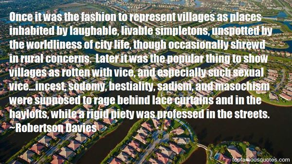 Quotes About Villages Life