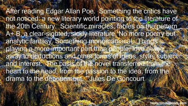 Quotes About 20th Century Literature