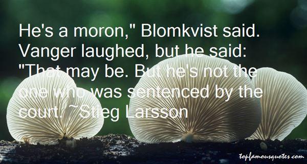 Quotes About Blomkvist