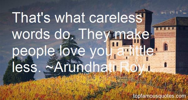 Quotes About Careless Words
