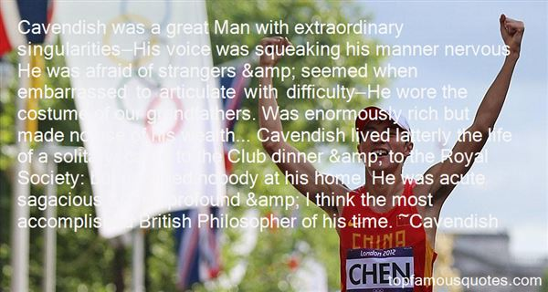 Quotes About Cavendish