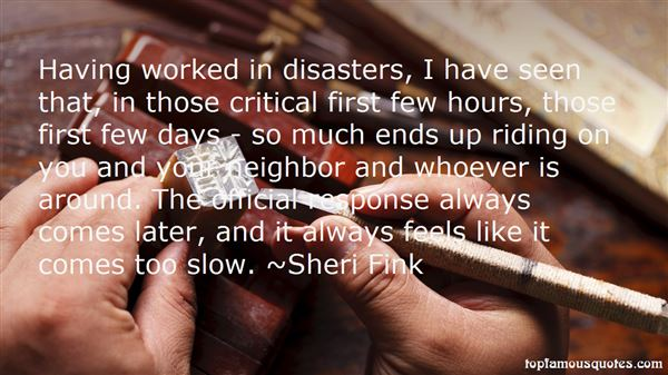 Quotes About Disaster Response