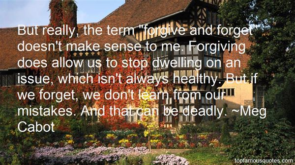 Quotes About Dwelling On Mistakes