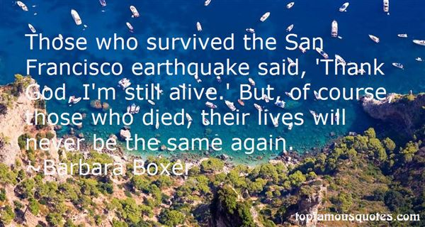 Quotes About Earthquake