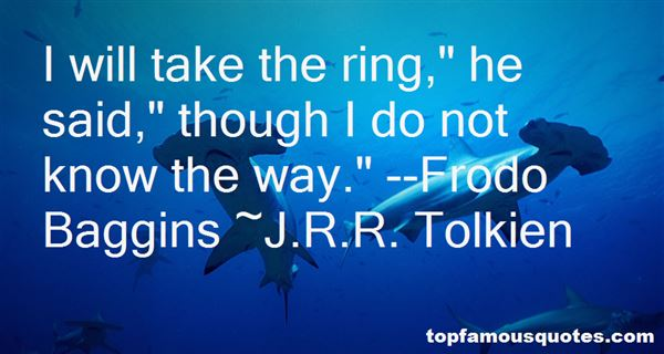 Quotes About Frodo Baggins