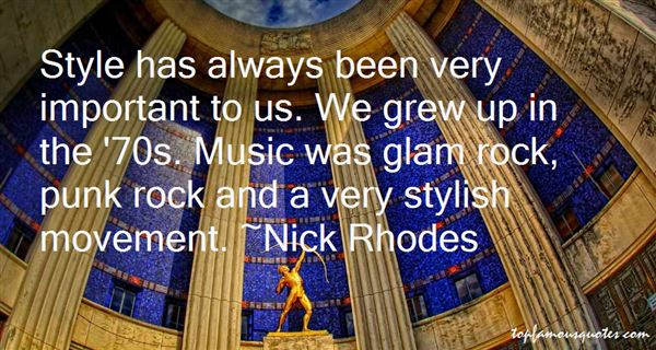 Quotes About Glam Rock