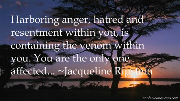 Quotes About Harboring Anger