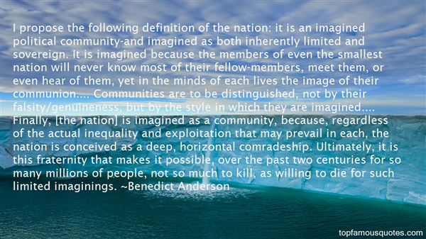 Quotes About Imagined Communities