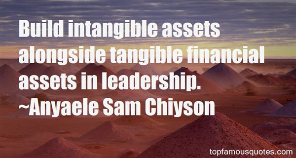 Quotes About Intangible Assets
