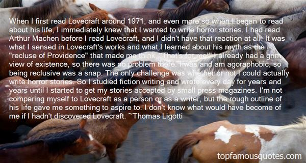 Quotes About Lovecraft Life