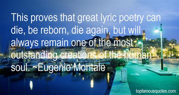 Quotes About Lyric Poetry
