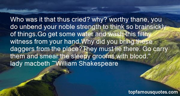 Quotes About Noble Macbeth
