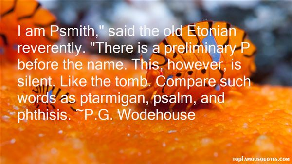 Quotes About Psmith