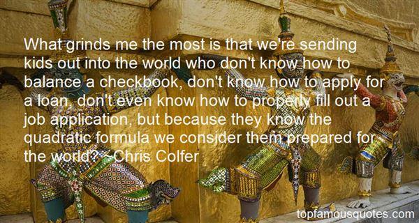 Quotes About Quadratic Formula