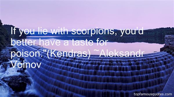 Quotes About Scorpion