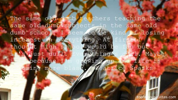 Quotes About Subjects In School