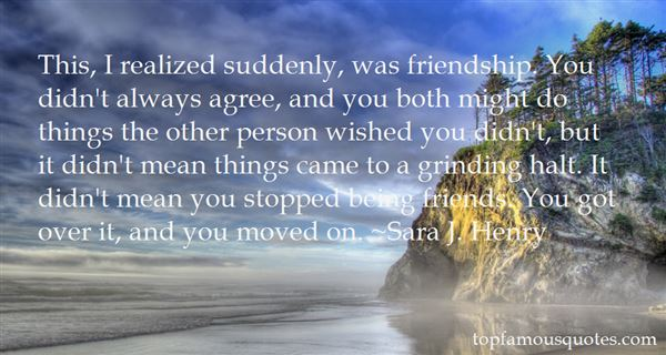 Quotes About Sudden Friendship