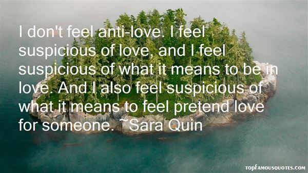 Quotes About Suspicious Love