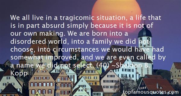 Quotes About Tragicomic