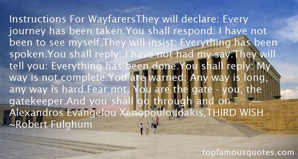 Quotes About Wayfarer