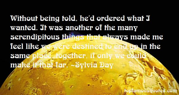 Quotes About Being Ordered
