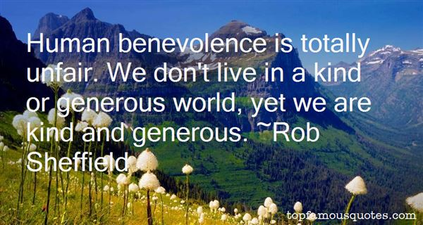 Quotes About Benevolence