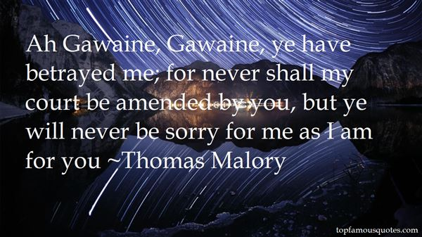 Quotes About Gawaine