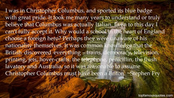 Quotes About Great Columbus
