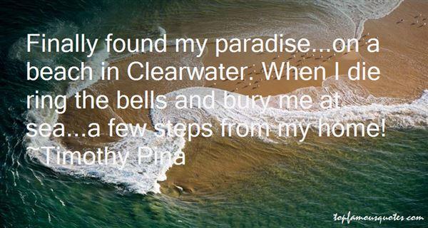 Paradise Beach Quotes: best 3 famous quotes about Paradise Beach