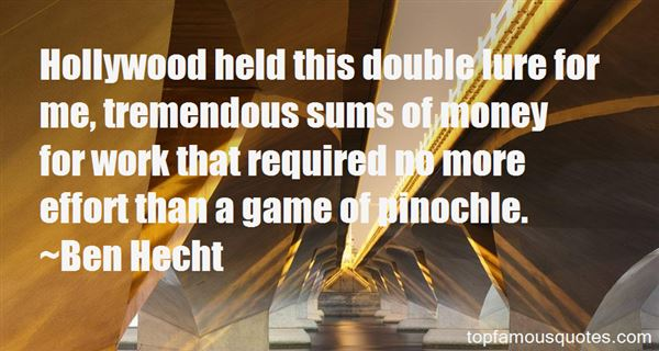 Quotes About Pinochle