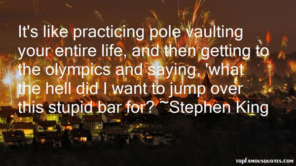 Quotes About Pole Vaulting