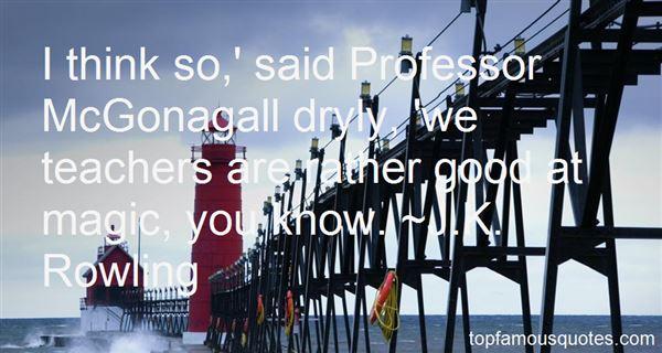 Quotes About Professor Mcgonagall