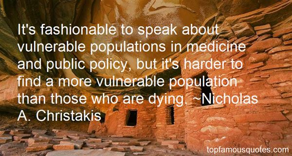 Quotes About Vulnerable Populations