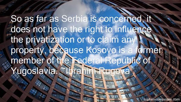 Quotes About Yugoslavia