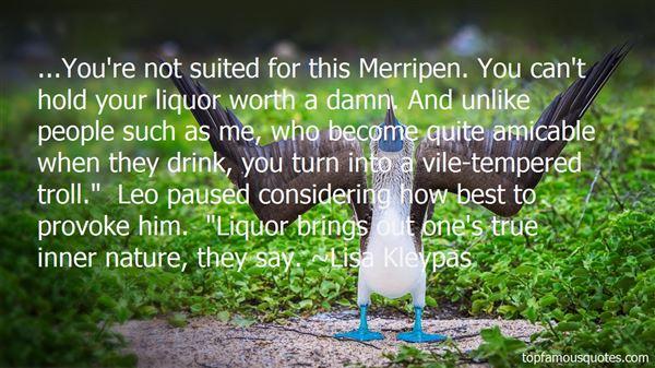 Quotes About Best Liquor