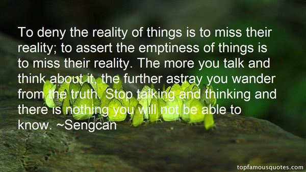 Quotes About Emptiness Reality