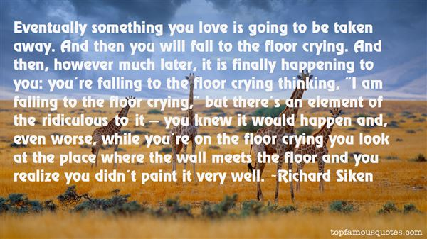 Quotes About Falling On The Floor