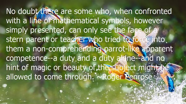 Quotes About Mathematical Beauty