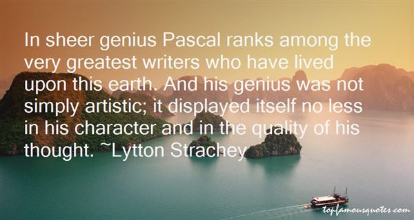 Quotes About Pascal