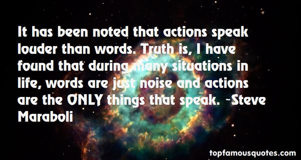 Quotes About Actions Speak Louder