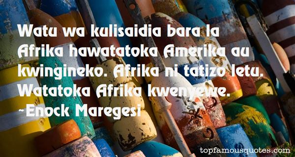 Quotes About Afrika